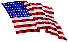 Wave american flag Stock Images