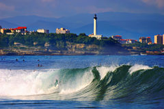 Wave And Biarritz Stock Photos