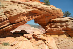 The Wave Arch. Vermilion Cliffs Arch royalty free stock images