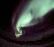 Wave Aurora Arc. One of the nice and powerful aurora displays near Fairbanks, AK, November 2005 Stock Image