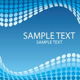 Wave background. Sample text illustration Royalty Free Stock Photos