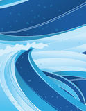 Wave background design Royalty Free Stock Photography