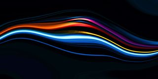 Wave background with bright gradient and blur effects royalty free stock photo