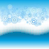 Wave background with dotted effect and circles. Royalty Free Stock Photography