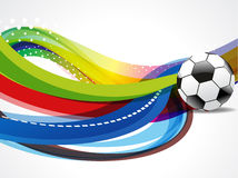 Wave Background With Football Stock Images