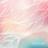 Wave background. Pastel colors. Festive vector background. Pastel colors. Hand-drawn waves pattern Royalty Free Stock Image