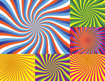 Wave Backgrounds. 6 Vector Illustrations - Very Colorful Wave Backgrounds Stock Image