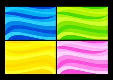 Wave backgrounds. Colorful waves - set of background abstracts. Color illustration Royalty Free Stock Photo