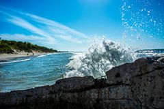 Wave in the Baltic Sea stock photography