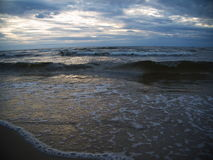 Wave in the Baltic Sea. Waves in the Baltic Sea in the evening Royalty Free Stock Photos