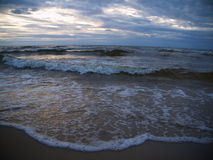 Wave in the Baltic Sea. Waves in the Baltic Sea in the evening Stock Image