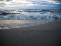 Wave in the Baltic Sea. Waves in the Baltic Sea in the evening Royalty Free Stock Images