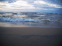 Wave in the Baltic Sea. Waves in the Baltic Sea in the evening Stock Photos