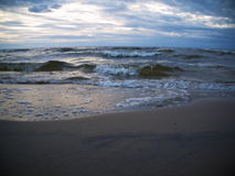 Wave in the Baltic Sea. Waves in the Baltic Sea in the evening Royalty Free Stock Image