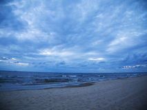 Wave in the Baltic Sea. Waves in the Baltic Sea in the evening Stock Photography