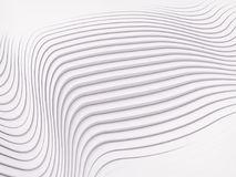 Wave band abstract background surface 3d rendering. Wave band surface Abstract white background. Digital 3d illustration Stock Images