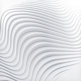 Wave band abstract background surface 3d rendering. Wave band surface Abstract white background. Digital 3d illustration Royalty Free Stock Photography