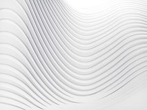 Wave band abstract background surface 3d rendering. Wave band surface Abstract white background. Digital 3d illustration Stock Photo