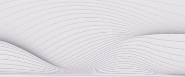 Wave band abstract background surface 3d rendering Royalty Free Stock Photos