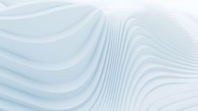 Wave band abstract background surface. Digital 3d illustration Royalty Free Stock Photography