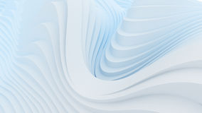 Wave band abstract background surface. Digital 3d illustration Royalty Free Stock Photos