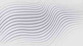 Wave band abstract background surface 3d rendering. Wave band surface Abstract white background. Digital 3d illustration Royalty Free Stock Image