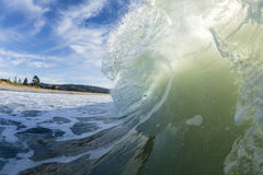 Wave Barreling New Zealand Royalty Free Stock Image