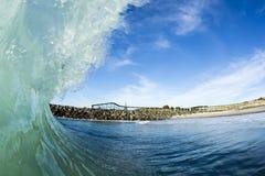 Wave Barreling New Zealand Stock Photos