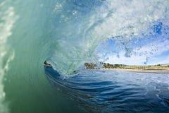 Wave Barreling New Zealand Stock Photo
