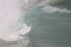 Wave Barrell curling. Surf Wave Barrell curling before crashing royalty free stock photos