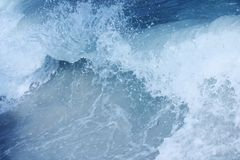 Wave Barrell curling. Surf Wave Barrell curling before crashing royalty free stock images