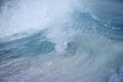 Wave Barrell curling. Surf Wave Barrell curling before crashing royalty free stock photo