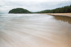 The wave on the Beach. In Phuket thailand Royalty Free Stock Photo