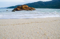 Wave and beach. Wave sand beach stone on island Royalty Free Stock Photography