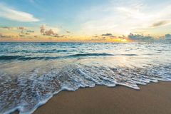Wave on the beach. Small surf on the beach in South of Thailand at dusk Stock Images