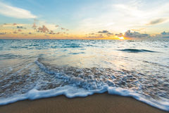 Wave on the beach. Small surf on the beach in South of Thailand at dusk Royalty Free Stock Photography