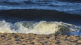 The wave beats against the sandy shore royalty free stock images
