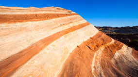 The Wave. Beautiful rock formation known as The Wave in Valley of Fire, Nevada Stock Image