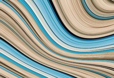 Wave beige blue bend volumetric wide band contrast base geometic. Wave beige blue bend volumetric wide band contrast base drawing geometic Royalty Free Stock Photos