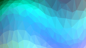 The wave of blue and light blue triangles. Raster . Stock Photos
