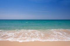 Wave and blue sky at Andaman sea,thailand Royalty Free Stock Photo