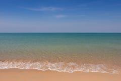 Wave and blue sky at Andaman sea,thailand Stock Photo