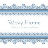 Wave border frame Stock Images