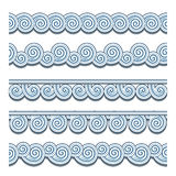 Wave borders. Set of ornamental wavy borders on white Royalty Free Stock Images