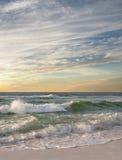 Wave Break on Florida Beach as the Sun Rises Royalty Free Stock Photo