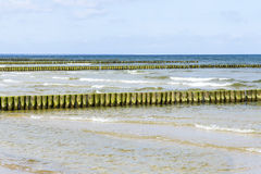 Wave breakers at the baltic sea Royalty Free Stock Photo