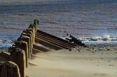 Wave breakers. Beach wave breakers @ spurn head Stock Images