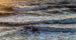 Wave breakers at the ocean Stock Photography