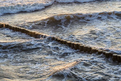 Wave breakers at the ocean Stock Photo