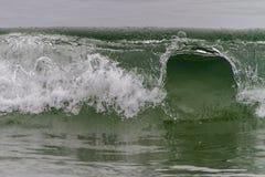 Wave breaking along Newfoundland coastline